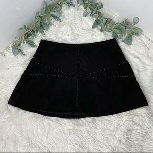 Zara Basics faux suede black mini skirt